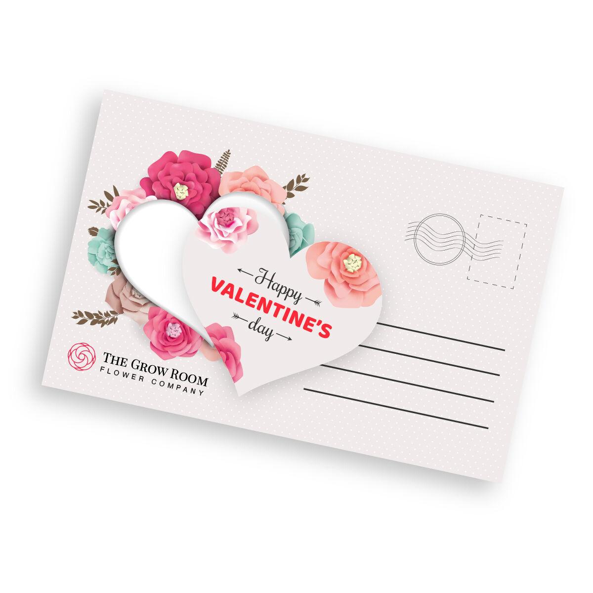 Heart Die Cut Postcards