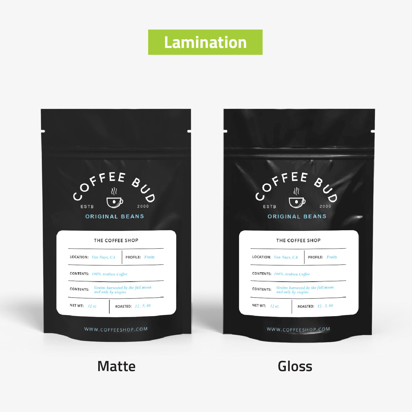 Stand Up Pouches Lamination