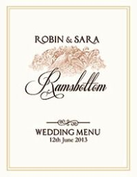 Wedding Day Menu Template