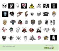 Skull Logo Vector Object (AI)