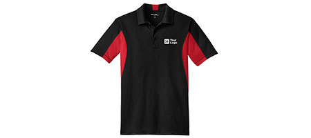 Mens Side Blocked Micropique Sport-Wick Polo Shirt