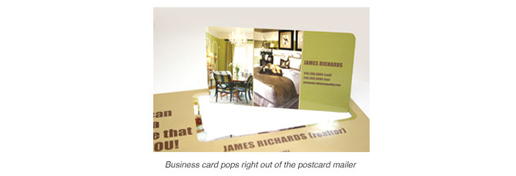 perf-out business card mailer