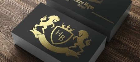 Foil Business Cards Gold Silver