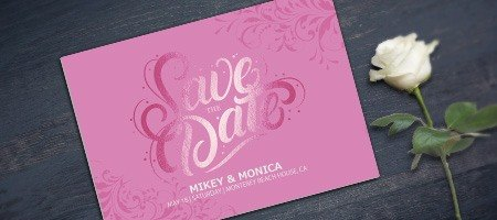 Metallic Save-the-Date Cards