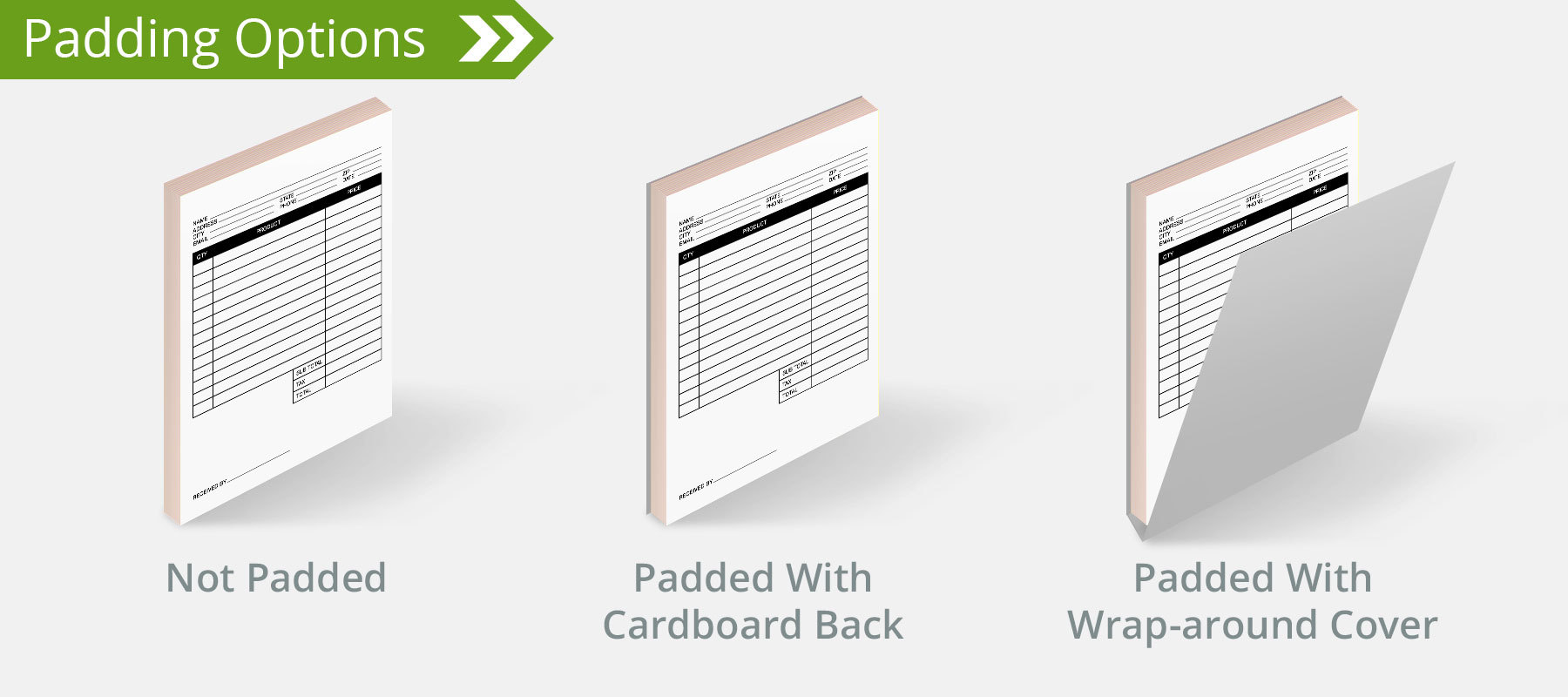 Carbonless Forms Padding Options - NCR Books